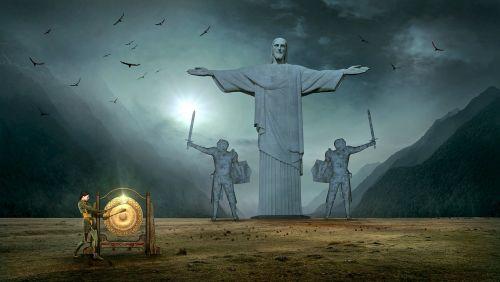 fantasy jesus statue