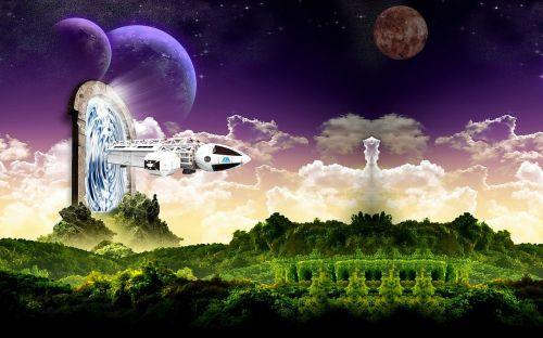 fantasy stargate spaceship
