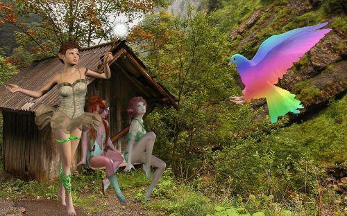 fantasy elves dove