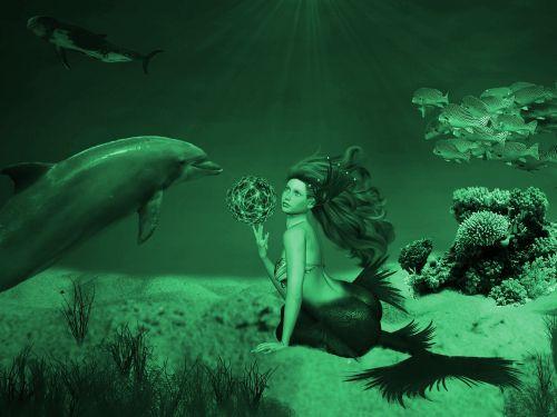 fantasy mermaid photo montage