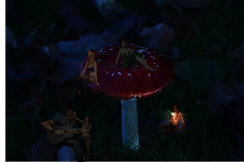 fantasy fly agaric elves