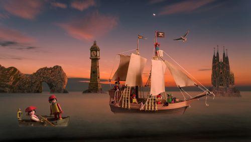 fantasy dream child pirates