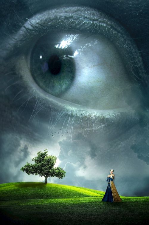 fantasy book cover eye