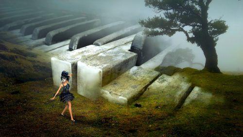 fantasy landscape piano