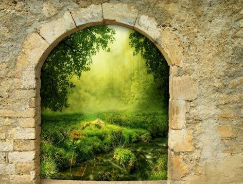 fantasy gate arch