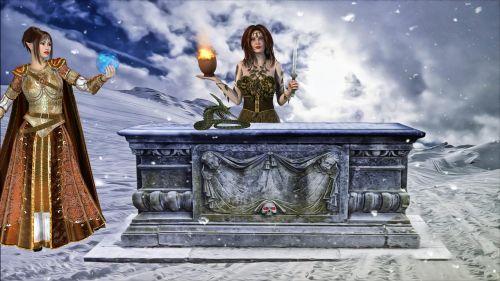 fantasy ritual altar