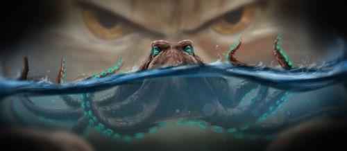 fantasy octopus sea