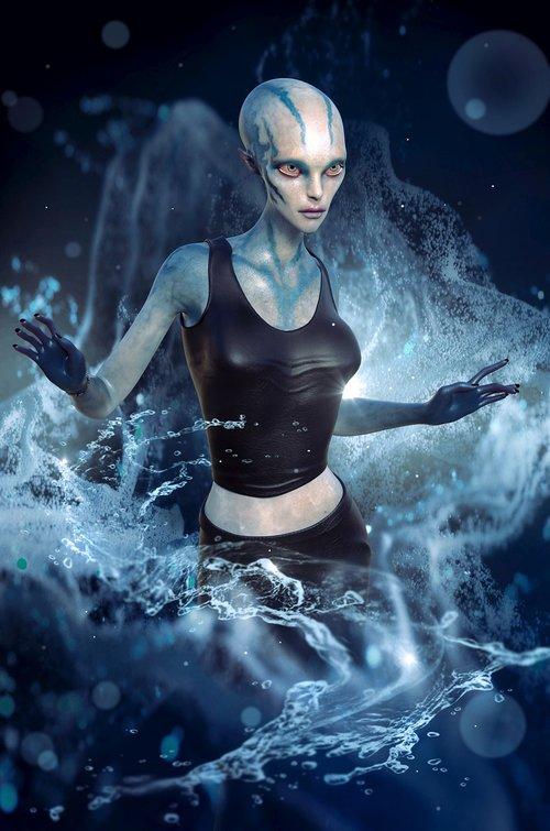 fantasy  alien  female