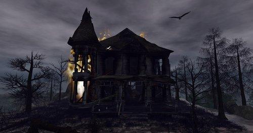 fantazija, Helovinas, Creepy, niūrus, namas, tamsa, mįslingas, mistinis, fantazija nuotrauka