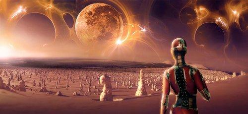fantasy  science fiction  moon
