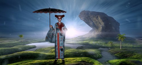 fantasy  memoirs of a geisha  woman