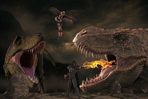 fantasy  dinosaur  extinct