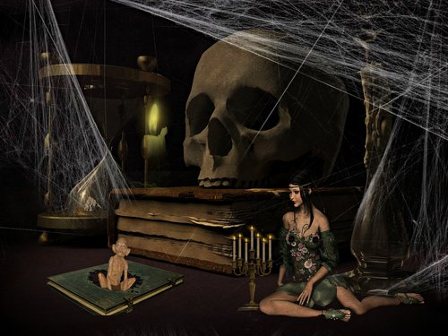 fantasy  mysticism  realm of the dead