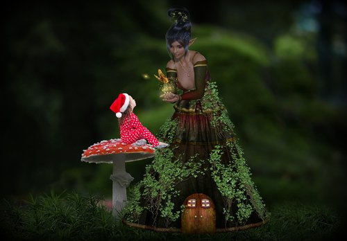 fantasy  fairy tales  forest elf