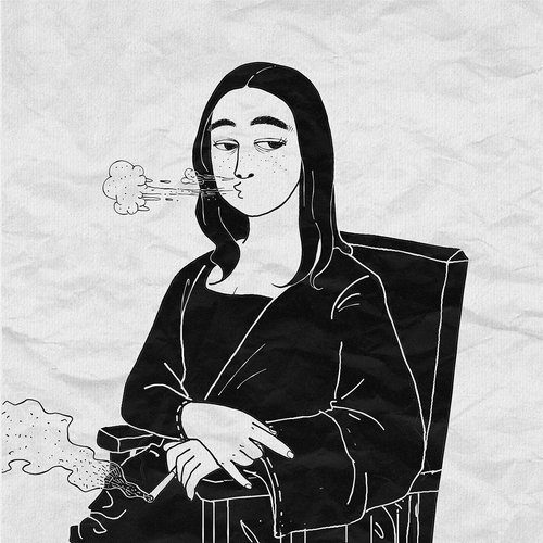 fantasy  mona lisa  smoking