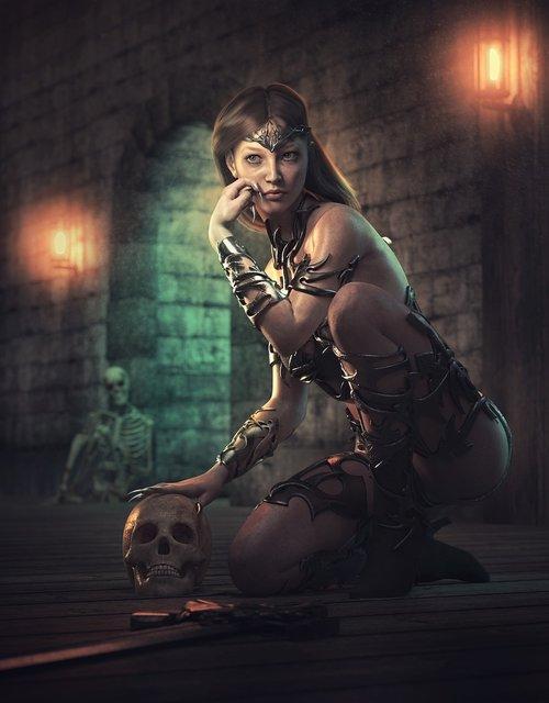 fantasy  girl  dungeon