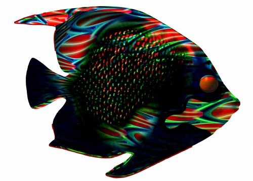 Fantasy Abstract Op-Art Fish