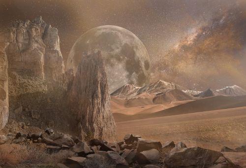 fantasy landscape dry mars