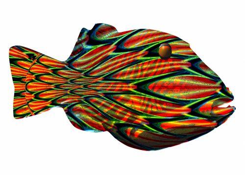 Fantasy Trigger Fish Op-Art