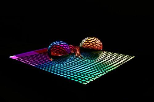 farbenspiel  glaskugeln  light reflections