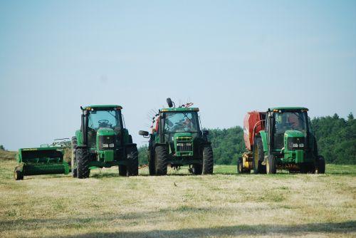 farm life tractors hay