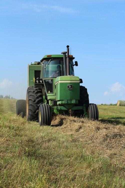 Farm Round Hay Bale Tractor Baler