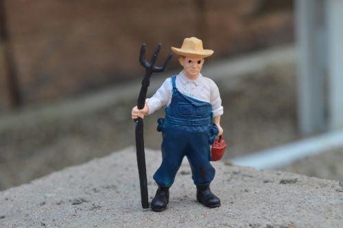 farmer pitchfork overalls