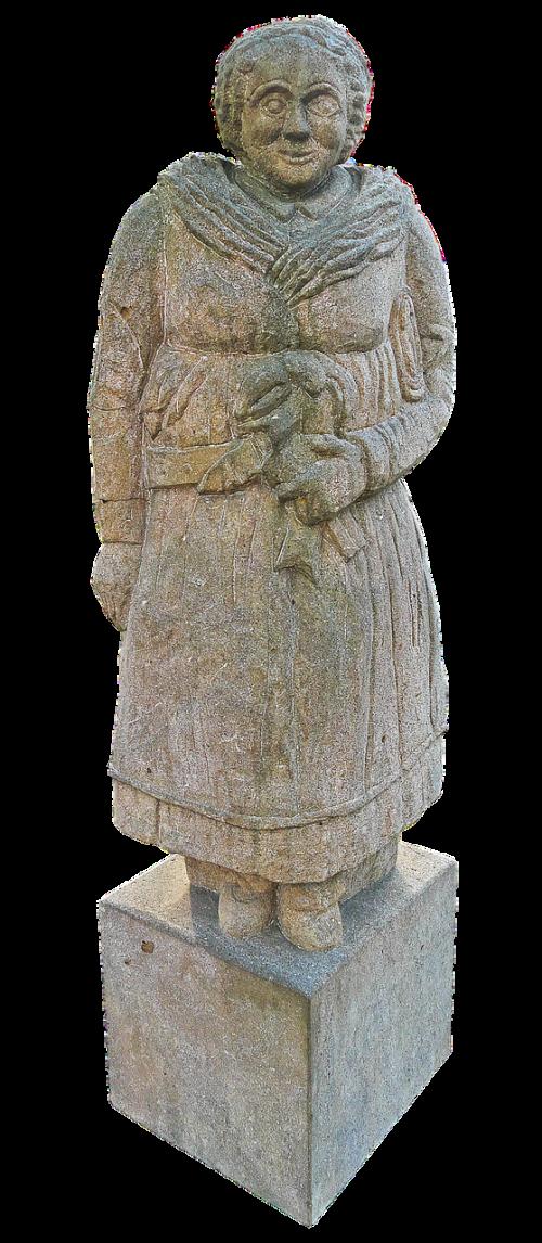farmer's wife stone figure sculpture