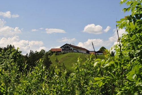 farmhouse  landscape  bavaria