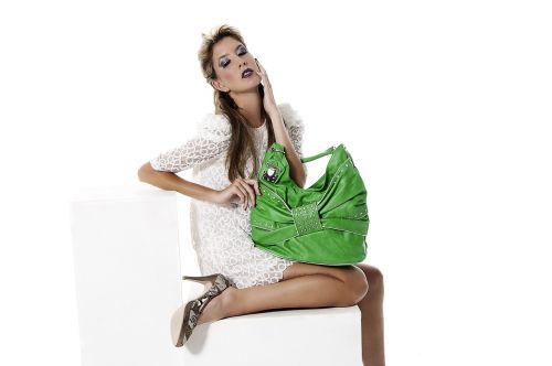fashion model green
