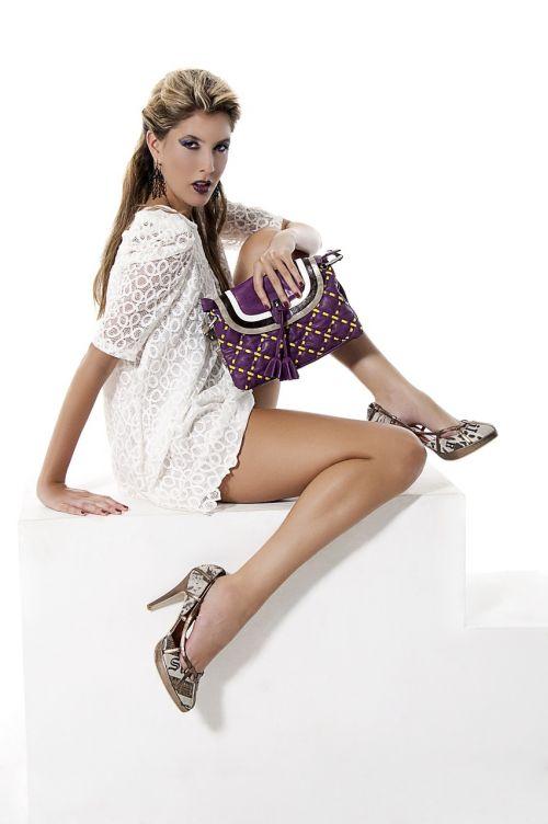 fashion handbag purple