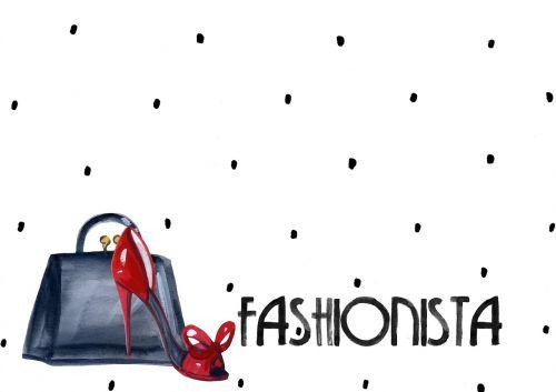 fashion background shoes