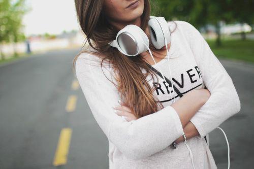 fashion girl headphone