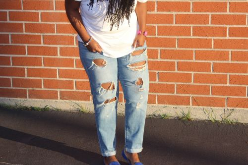 fashion ripped jeans denim