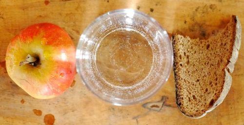 fasting fast food apple