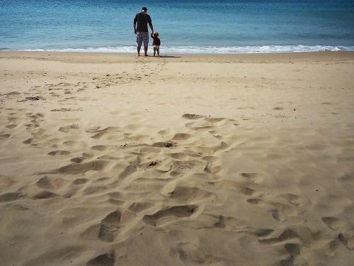 father son beach
