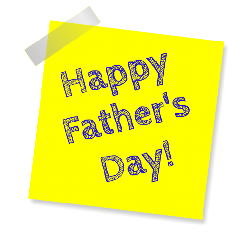 father's day happy father's day yellow