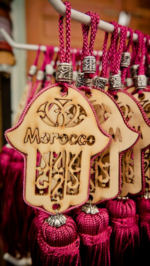 fatma's hand morocco keychain
