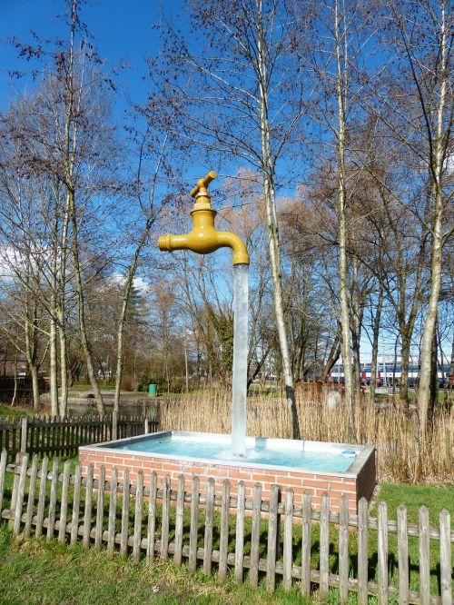 faucet water column free standing