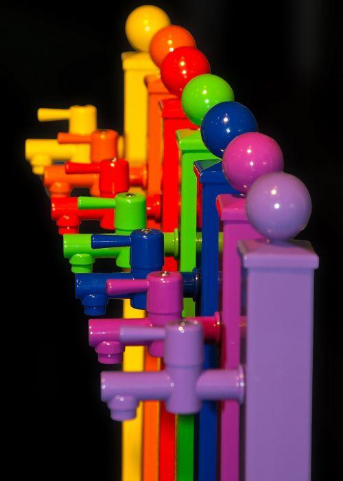 faucet colorful colored plastic