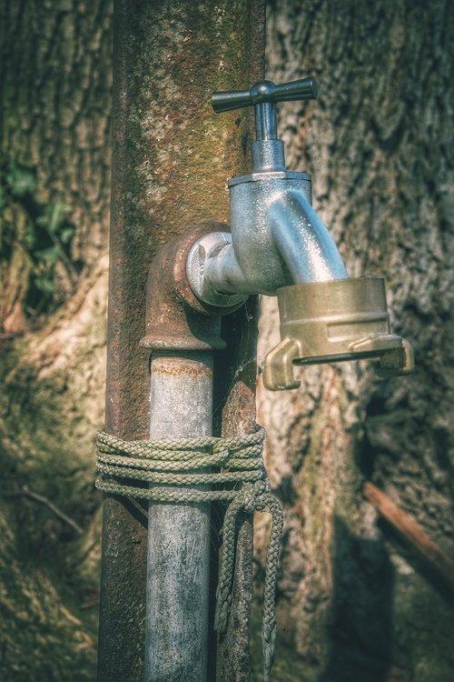 faucet  pipeline  metal