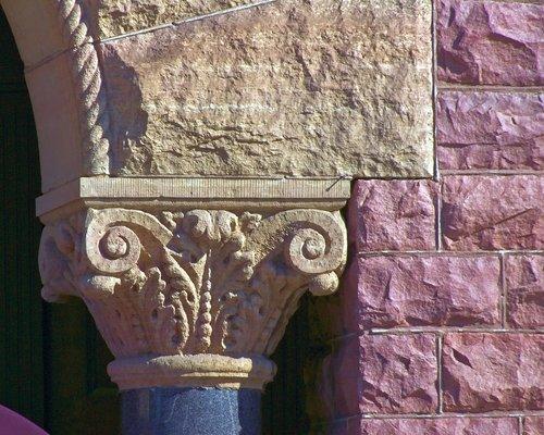 faux corinthian column  stones  architecture