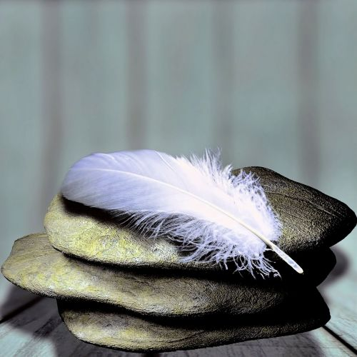 feather stones balance