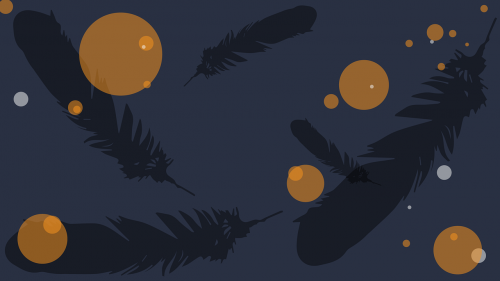 feathers background aesthetic