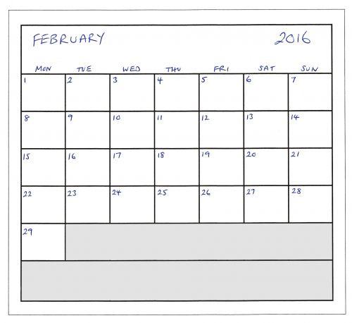 February 2016 Planner