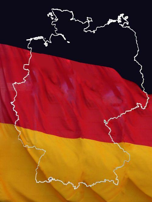 federal republic of german germany map