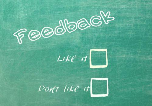 feedback reaction contact