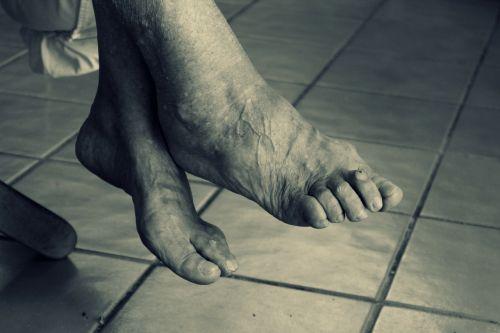 feet elderly woman old age