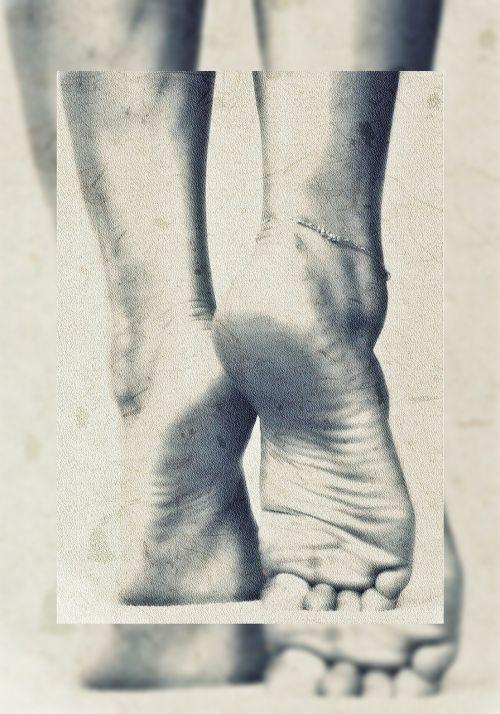 feet art effect