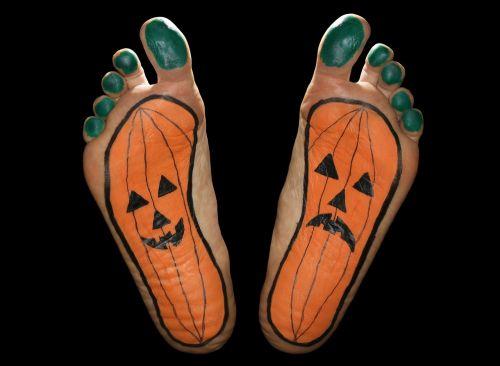 pumpkin feet foot